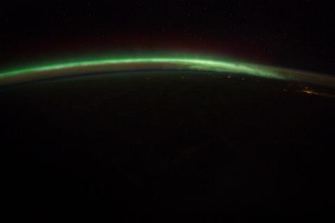 Ungraded: Aurora Borealis Over North America Footage