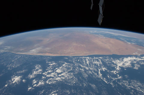 Ungraded: Over Africa, Arabian Peninsula, and Himalayas Footage