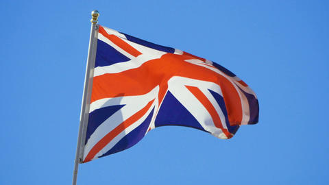 Three videos of British flag in 4K Live Action