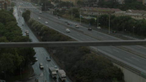Car traffic on the roads of Barcelona Footage