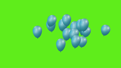 Celebration balloons 4k CG動画素材