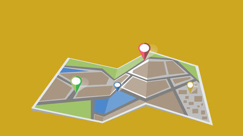City map animation Animación