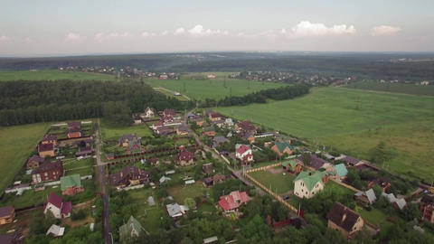 Private houses in Lukino Village, aerial view Footage