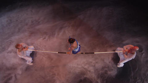 Acrobatics on horizontal bar in circus Footage