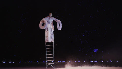 Equilibrist performing in the circus Footage