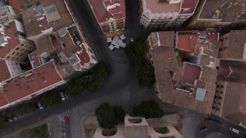 Flying over Serranos Towers in Valencia, Spain Footage