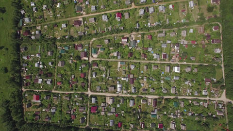 Aerial view of village houses in Russia Footage