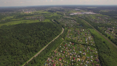 Aerial view of summer house community, Russia Footage