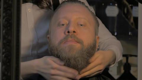 Man in the barbershop Footage