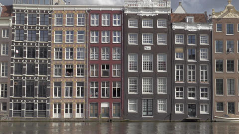 View of old buildings in the city center. Amsterdam, Netherlands Image
