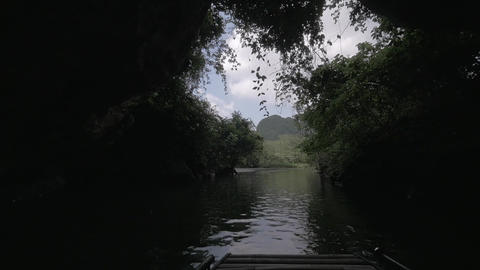 Boat cave tour in Ha Long Bay, Vietnam Live Action