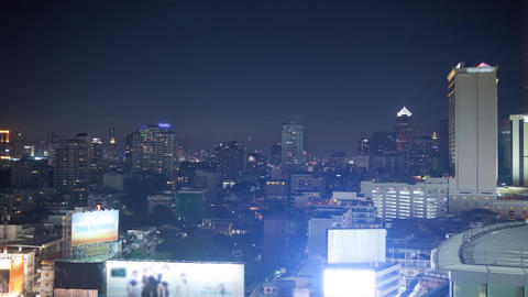 Timelapse of evening changing day in Bangkok, Thailand Footage