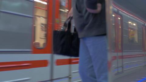 Commuting by subway train, Prague Live Action
