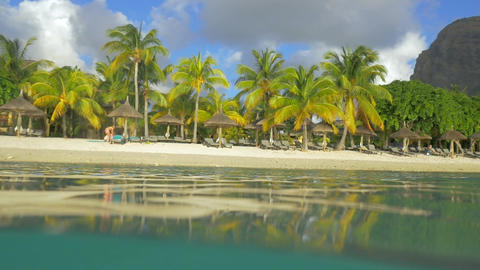 Vacation on the beach of tropical resort Footage