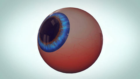 Abstract eyeball with red veins Animation