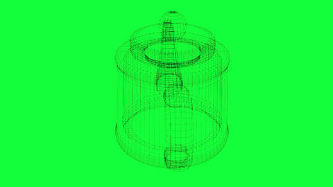 rotation of wireframe teapot Animation