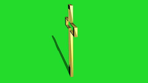 metal Cross Rotating Animation