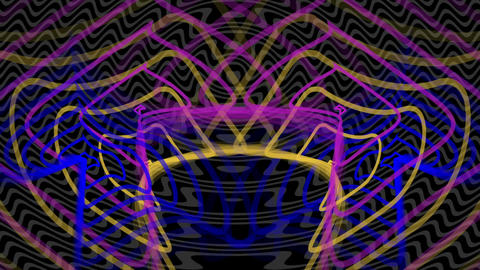 shape like radio waves radiating out from the center Animation
