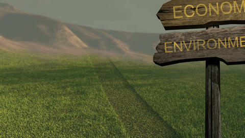 sign direction economy - environment Animation
