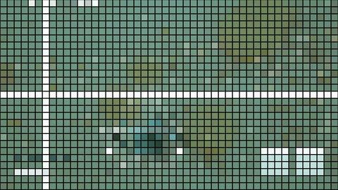 mosaic with dark grid -background video Animation