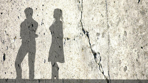 Accusation between man and women, couple fighting.Shadows... Stock Video Footage