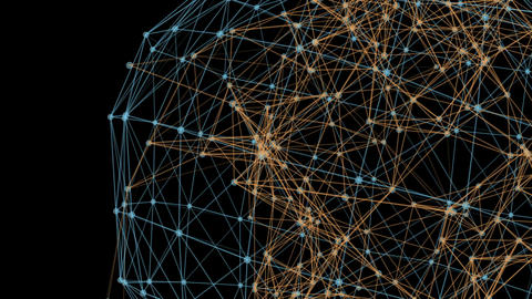 Triangles fantasy abstract technology and engineering Animation