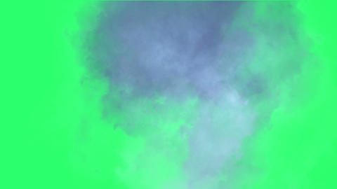 Clouds effect on green screen Animation