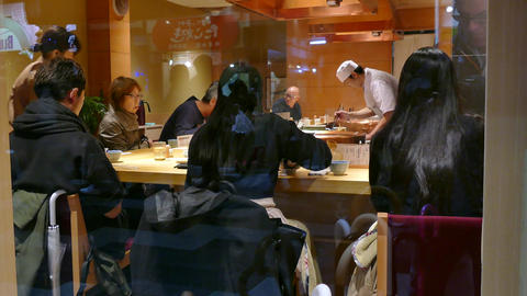 Traditional Restaurant In Kyoto Japan Asia Serving Asian... Stock Video Footage