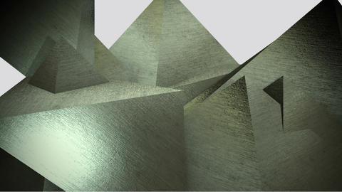 rotating metal gold pyramids Animation