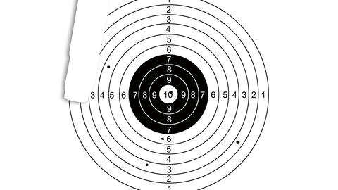 Shooting target with word planning Animation