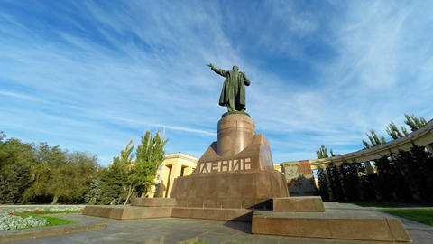 Lenin Monument to leader revolution in Russia Footage
