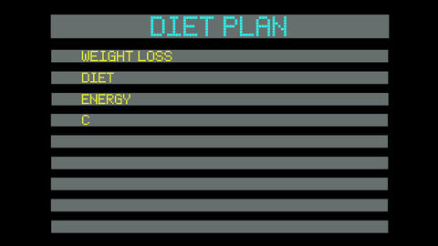 concept of diet plan Animation