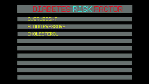 concept of diabetes risk factor Animation
