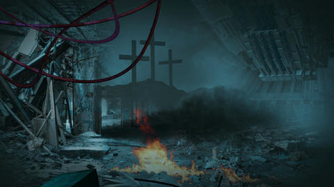 Post apocalyptic scene Animation