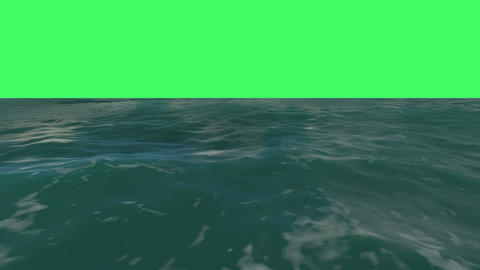 animation of flight over a water surface Animation