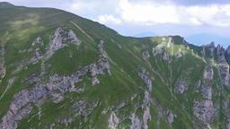 Bucegi mountains, Romania, aerial flight Footage