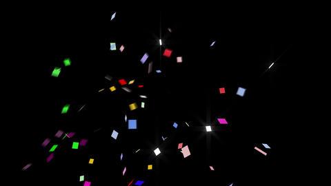 Confetti SQ 1 Slant Fix 1XcB L 4k CG動画素材