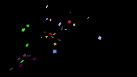 Confetti SQ 1 Slant Fix 1XcB M 4k CG動画素材