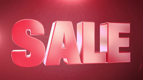 """ 40% Sale "" Animation Promotions In Red Text Seamlessly loopable Motion Backgro Footage"