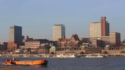 Panorama view of Hamburg Hafencity Footage