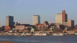 Panorama view of Hamburg Hafencity Filmmaterial