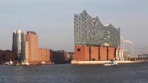 Panorama of Elbphilharmonie in Hamburg Footage
