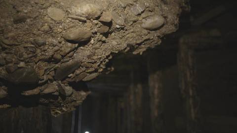 Detail of old mine tunnel Footage