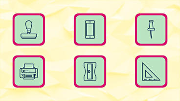 Office Icons and Elements After Effects Project