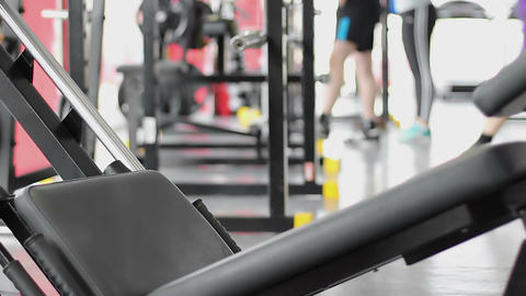 Sportive people training in gym, living healthy life, workout at fitness club Live Action