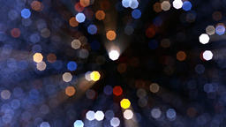 Beautiful snow particles bokeh, against blue sky Animation