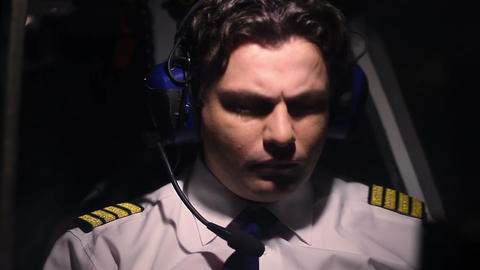 Overworked pilot feeling unwell during flight, suffer headache, accident risk Live Action