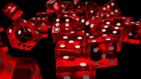 Dice rolling slow motion closeup DOF casino gambling gaming Vegas 4K Footage