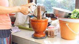 Thai Papaya Salad Cooking Footage