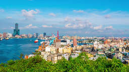 View Of The City In Kaohsiung - Taiwan - Time Lapse stock footage